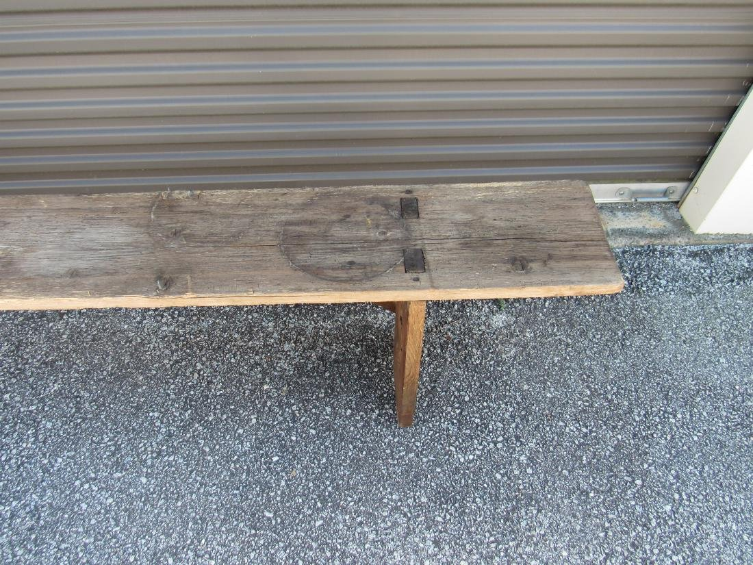 Primitive Pine Bench - 2
