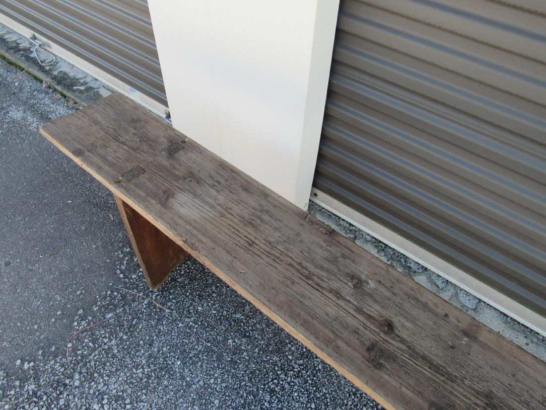 Primitive Pine Bench - 5