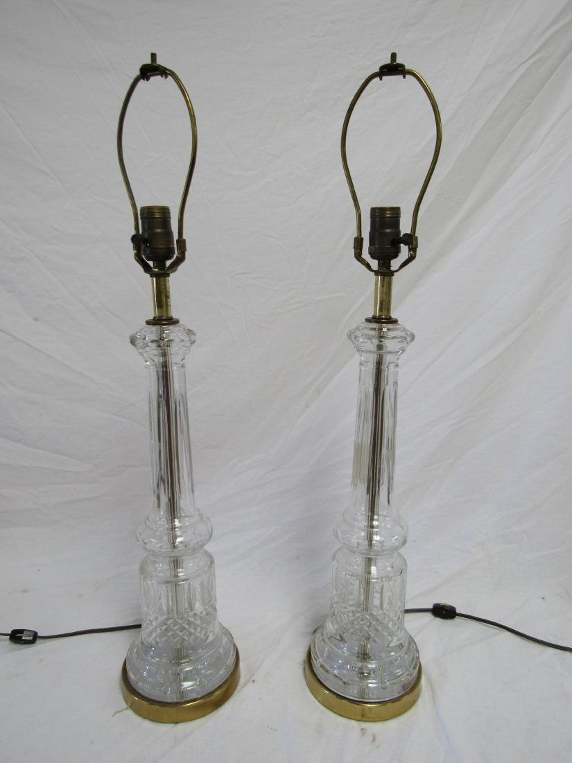 Pair of 1950's Waterford Lamps Florence Court