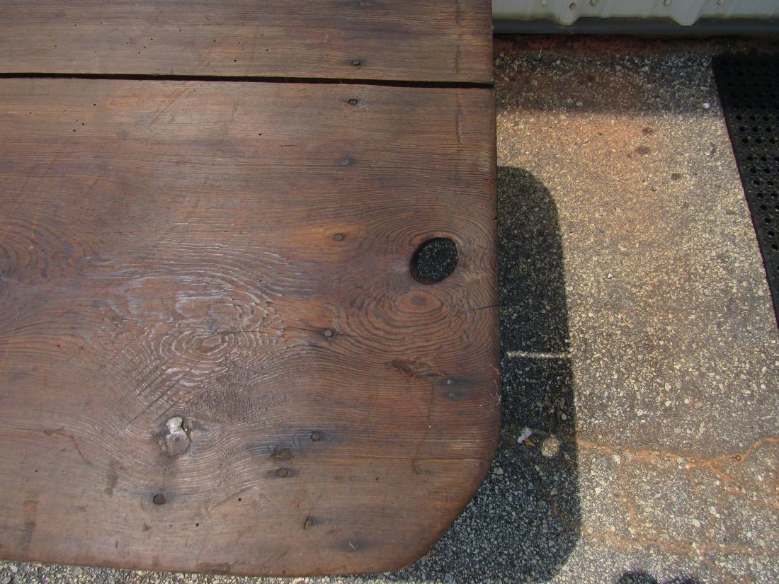 Primitive Two Board Top Southern Farm Table - 4