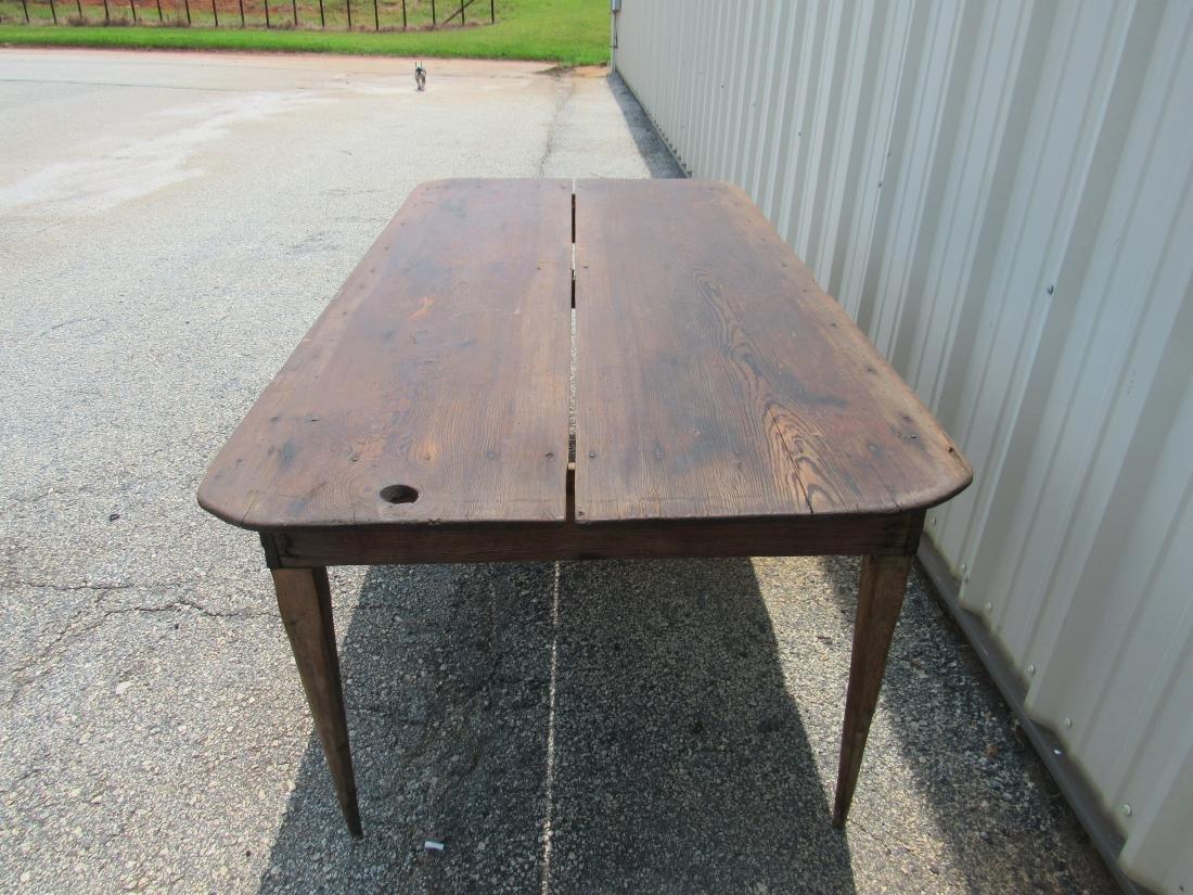 Primitive Two Board Top Southern Farm Table - 5