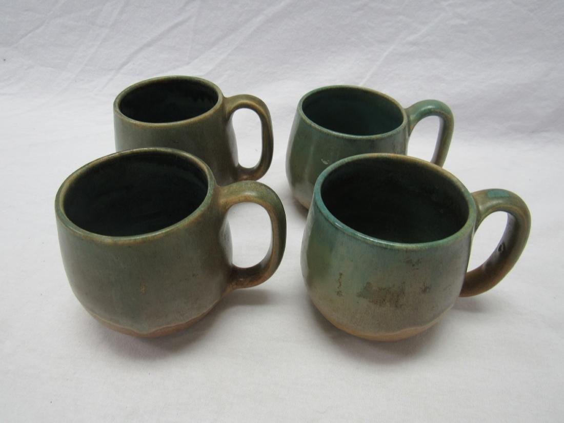 Lot of 4 W.J. Gordy Stoneware Coffee Mugs