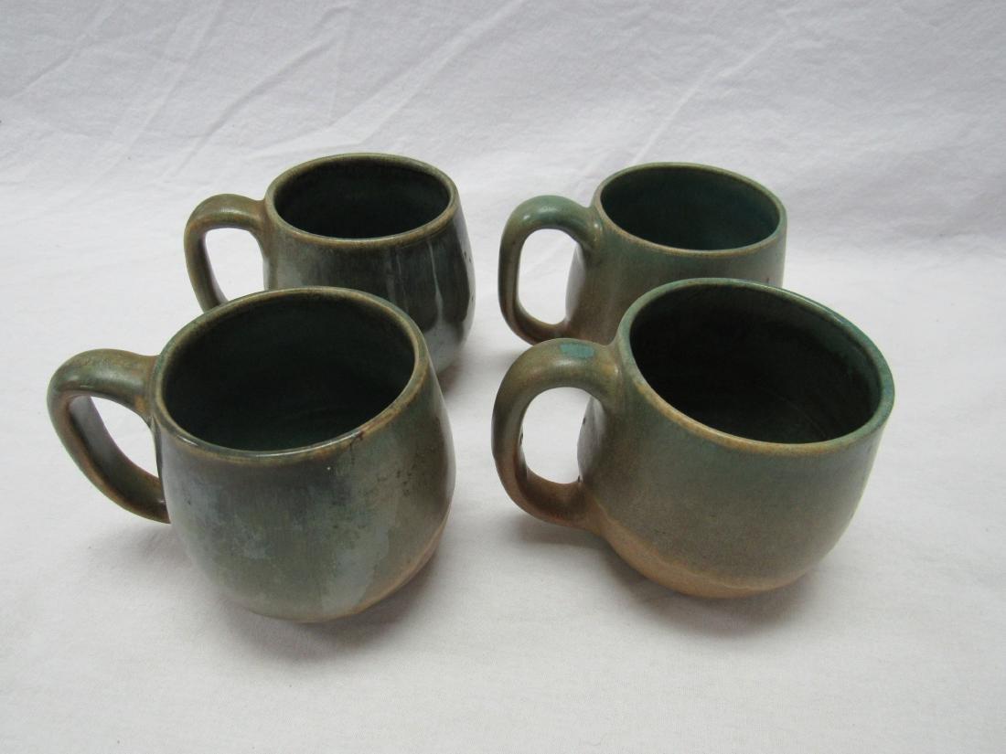 Lot of 4 W.J. Gordy Stoneware Coffee Mugs - 2