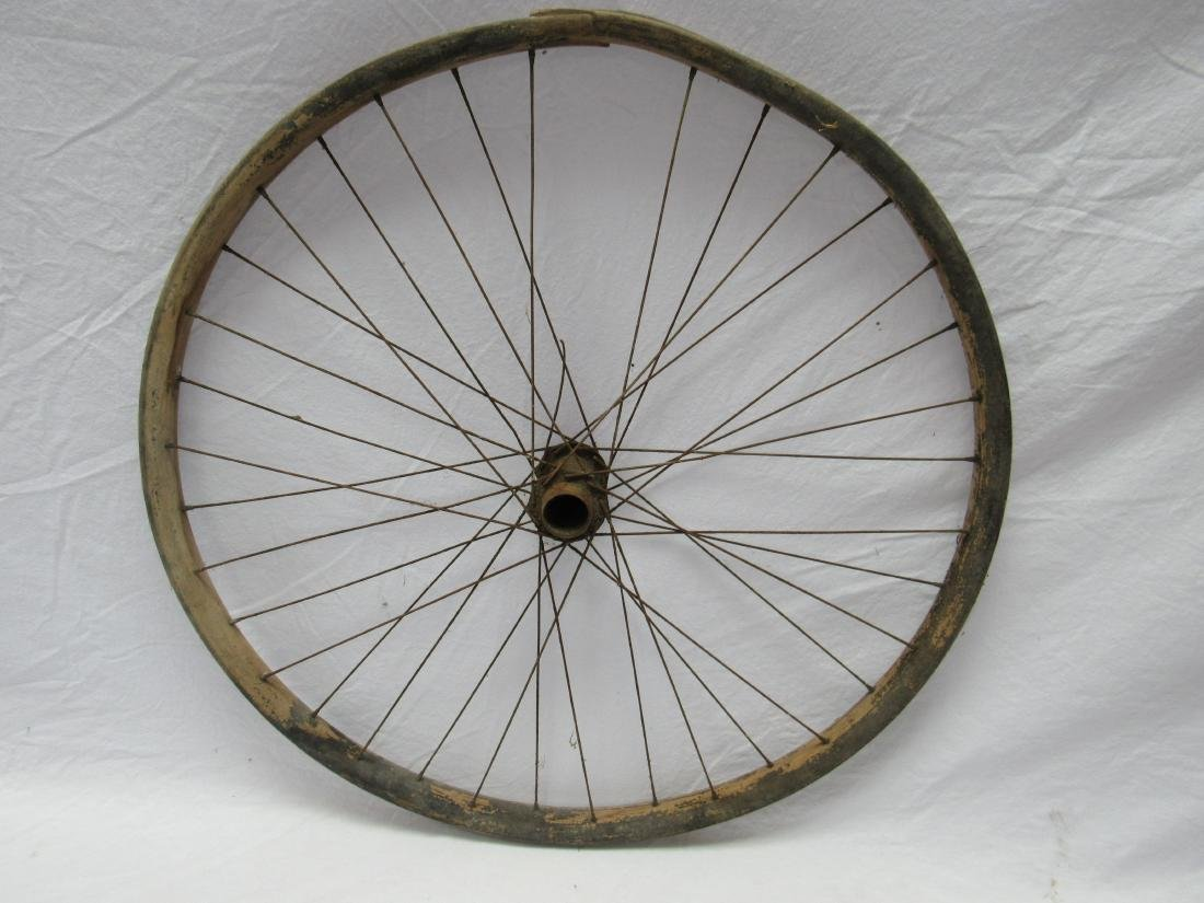Antique Wooden Bicycle Wheel