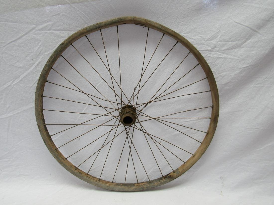 Antique Wooden Bicycle Wheel - 2