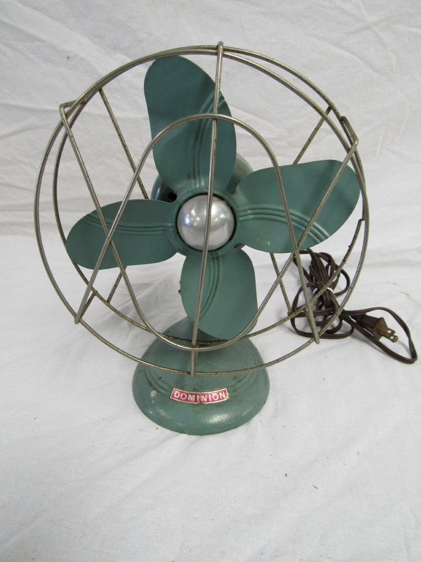 Vintage Turquoise Dominion Fan