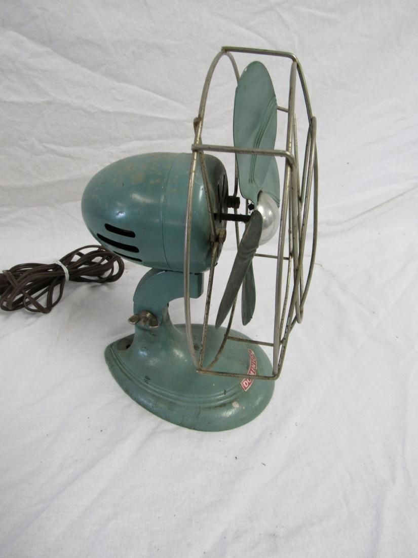 Vintage Turquoise Dominion Fan - 4