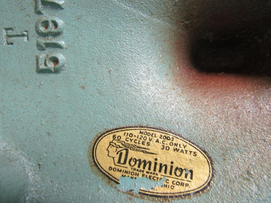 Vintage Turquoise Dominion Fan - 5