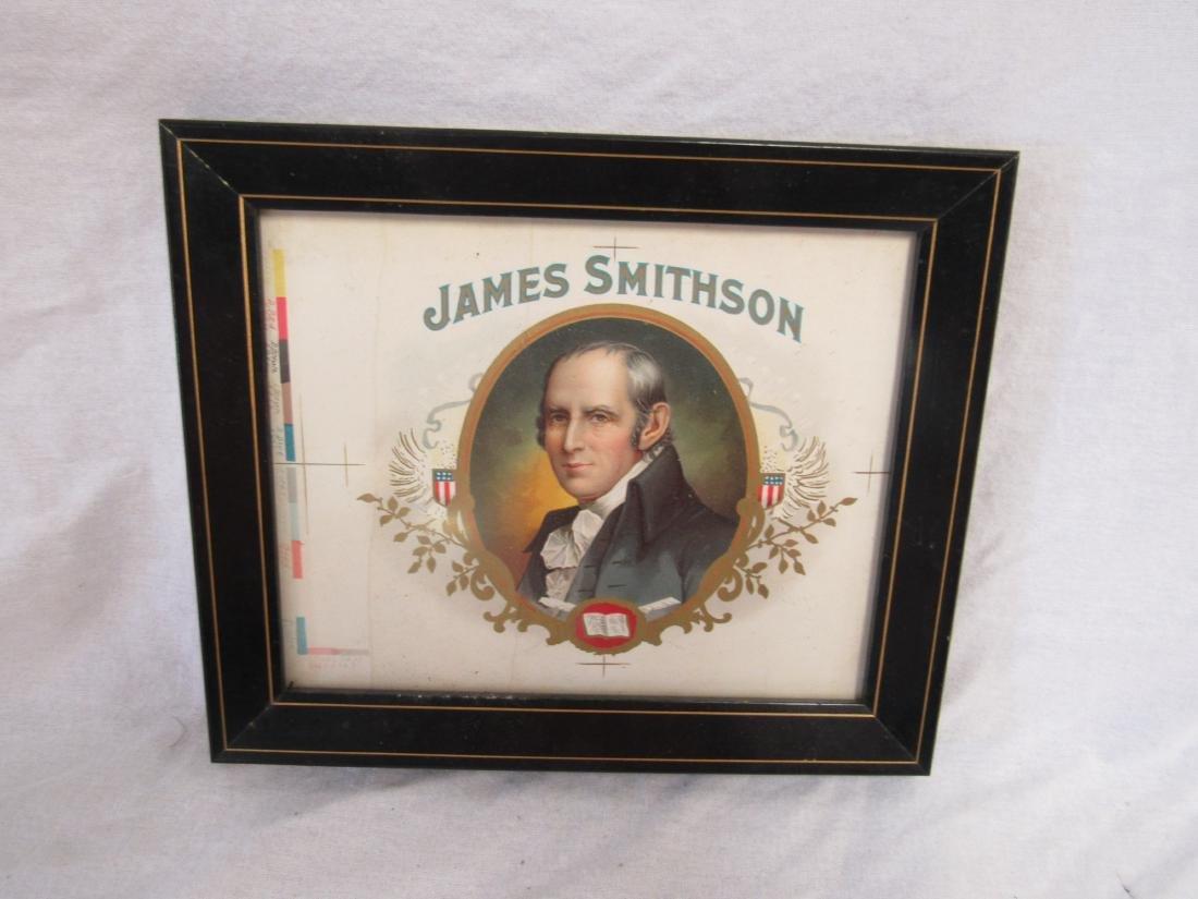 James Smithson Chromolithograph Cigar Label