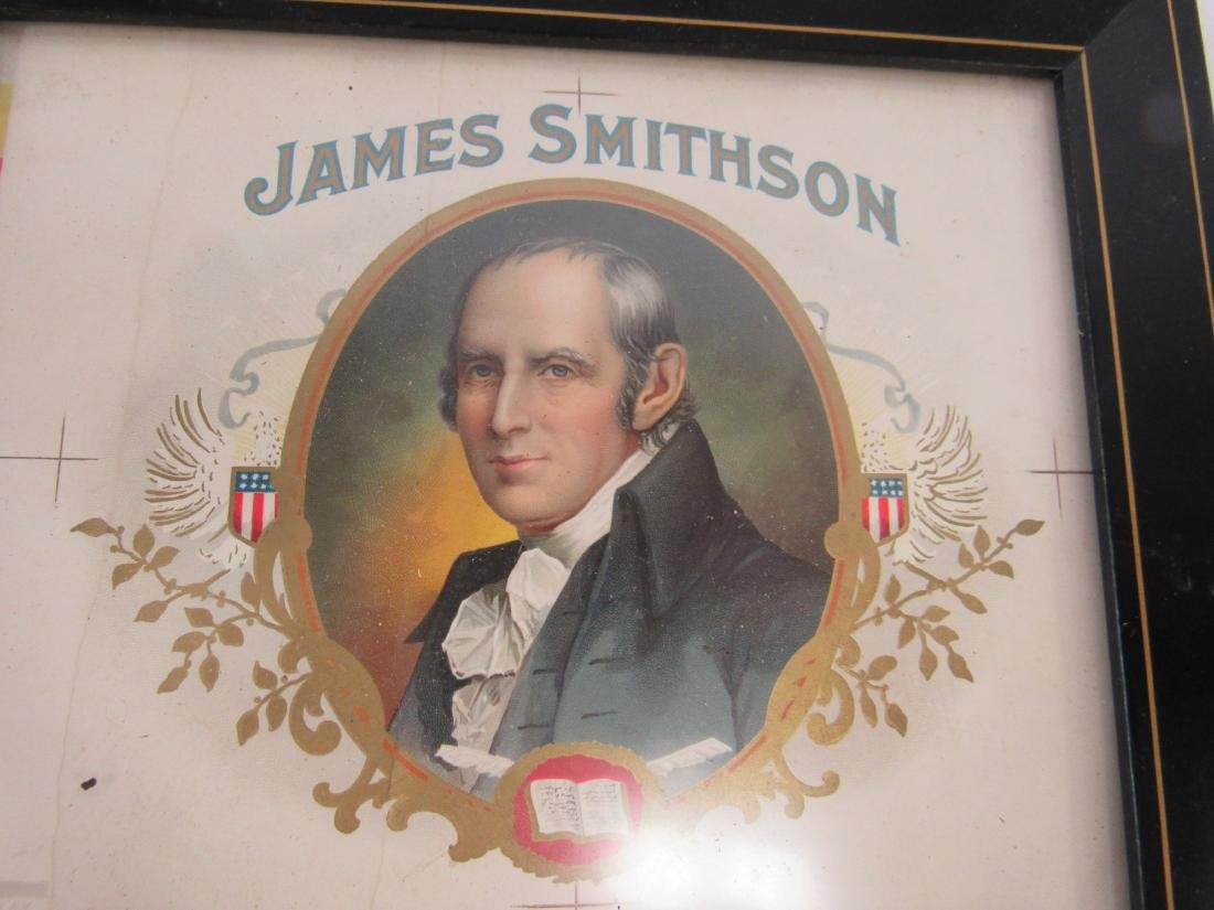 James Smithson Chromolithograph Cigar Label - 3