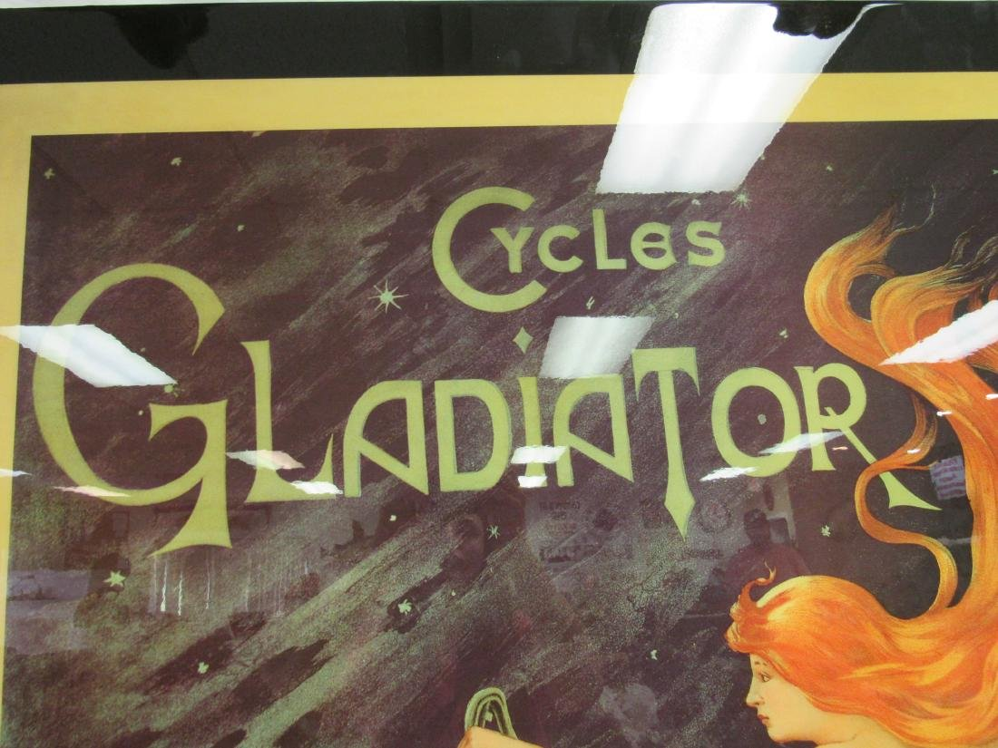 Vintage Inspired Gladiator Cycles Sign - 3