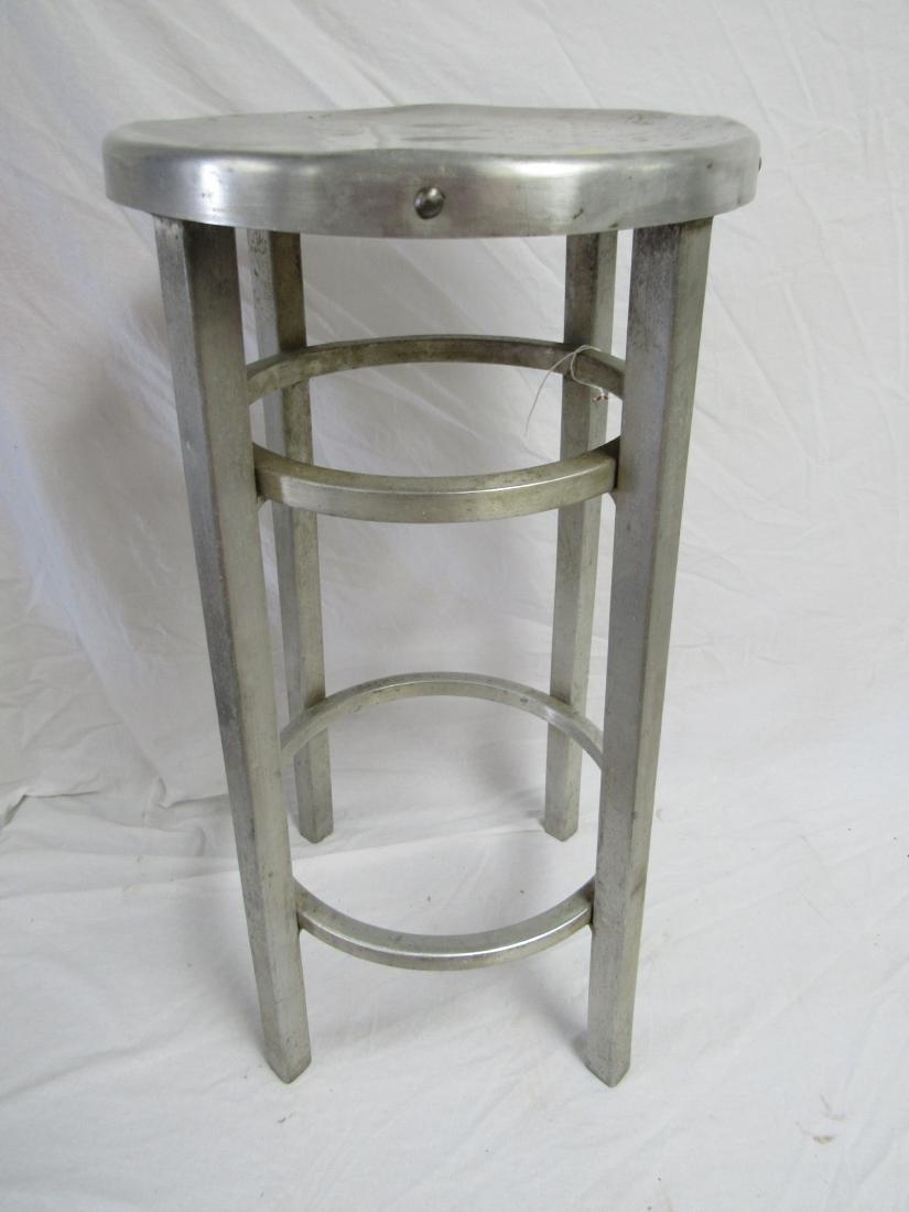 Vintage Industrial Aluminum Stool