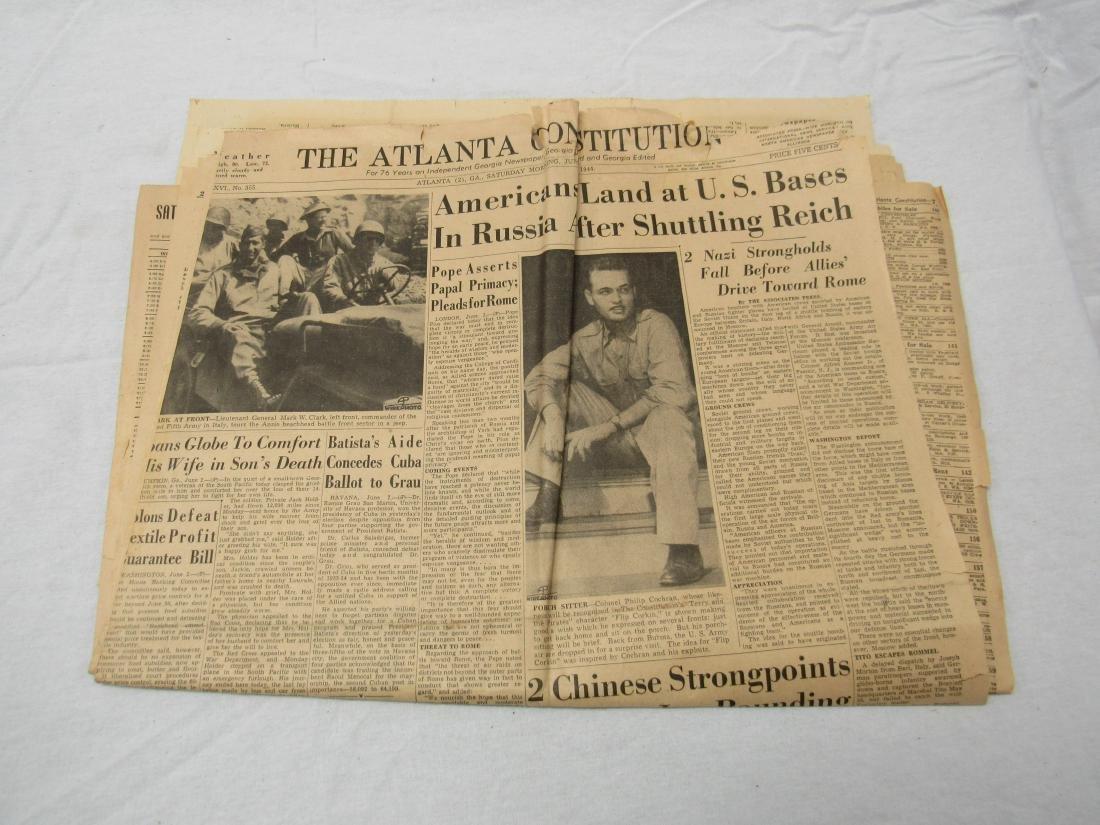 The Atlanta Constitution Newspaper June 3, 1944.