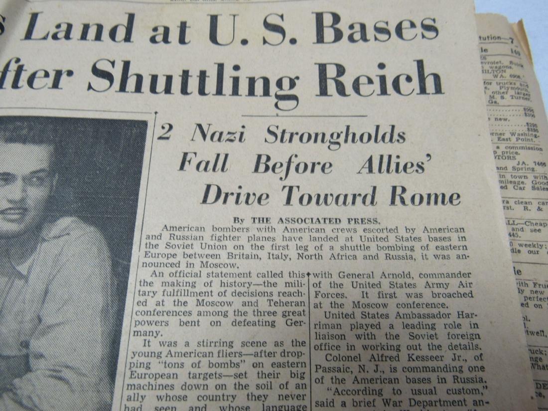The Atlanta Constitution Newspaper June 3, 1944. - 3