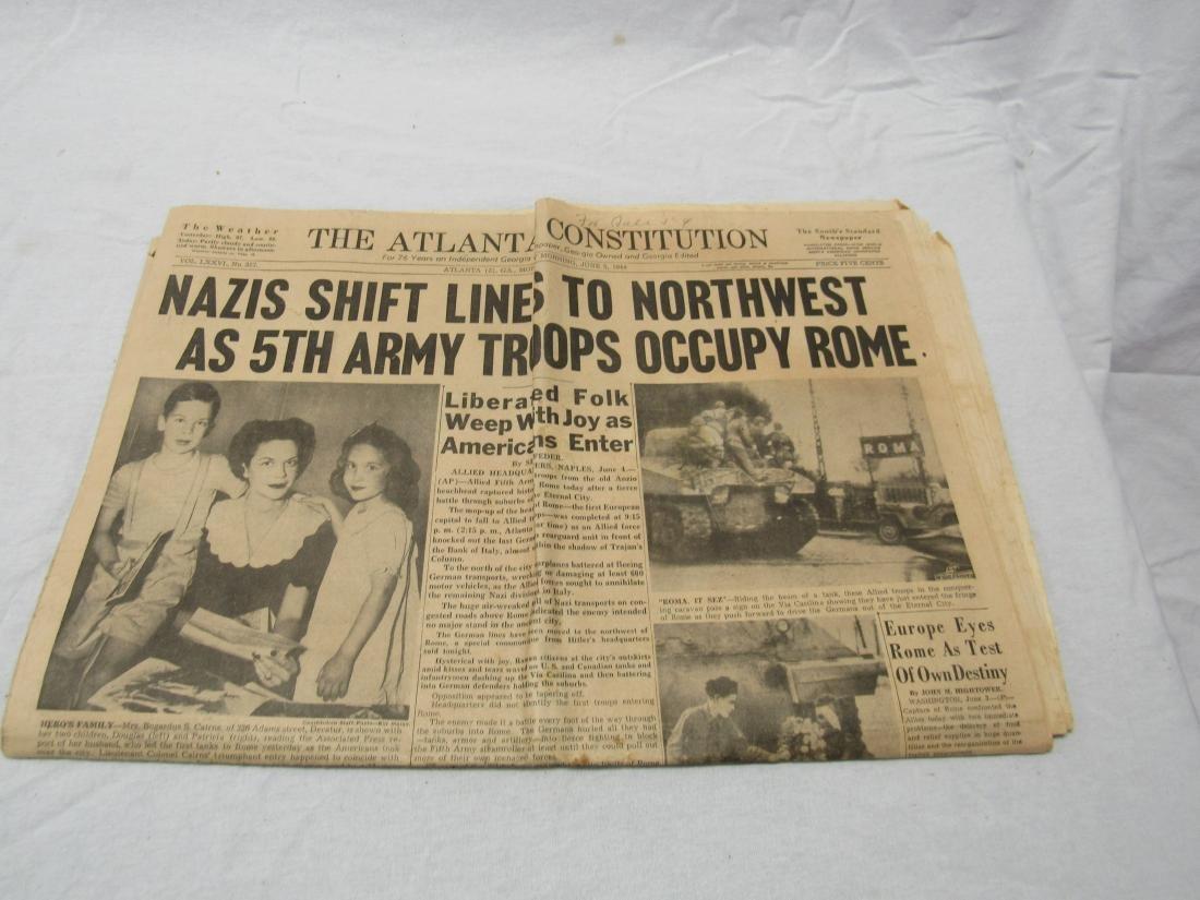 The Atlanta Constitution Newspaper January 5, 1944.