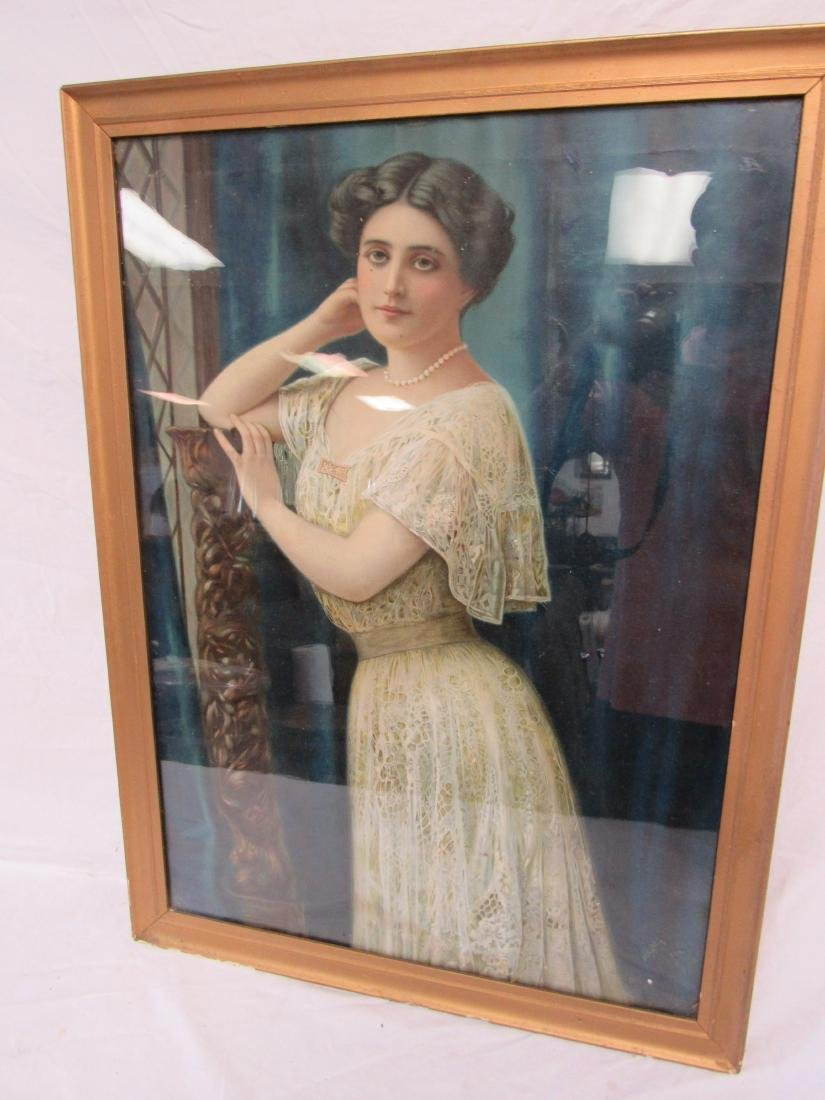 Antique Edwardian Portrait Lithograph