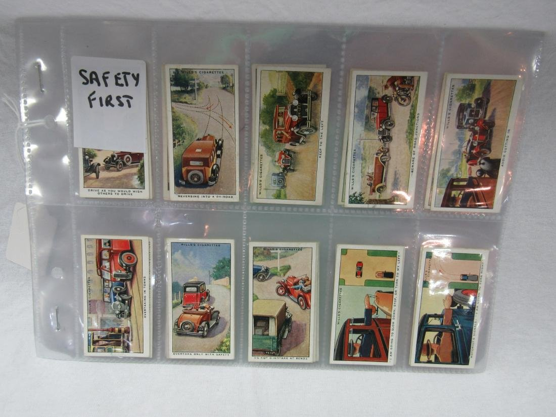 1930's Will Cigarettes Safety First Complete Set of 50