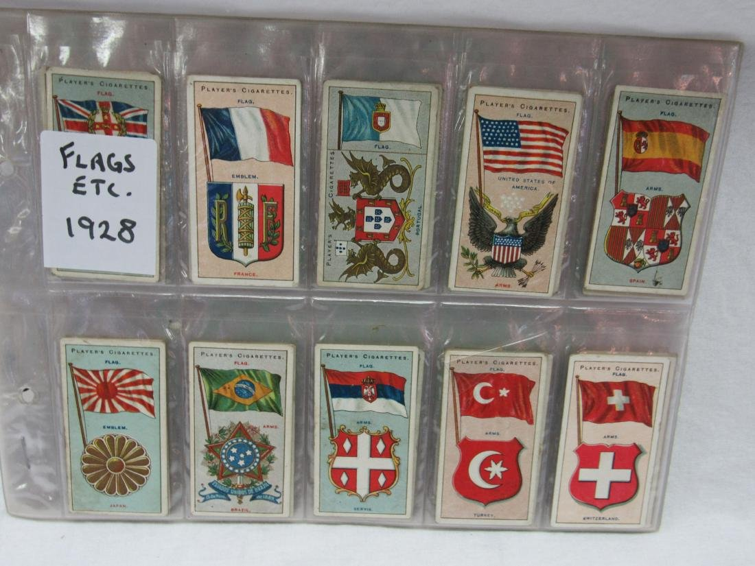 Set of 50 Player's Cigarette Flags from 1928