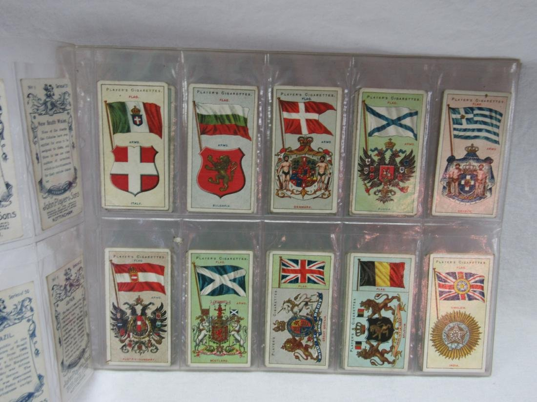 Set of 50 Player's Cigarette Flags from 1928 - 2