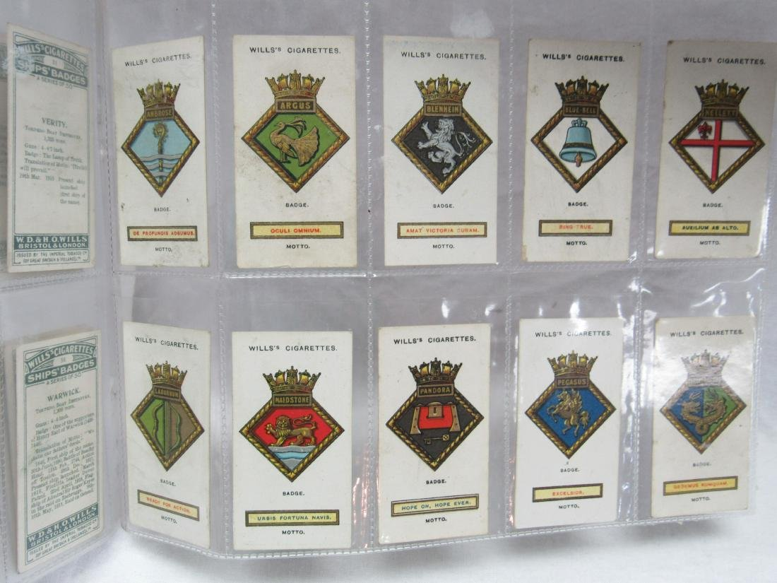 Set of 50 1925 Ships' Badges by Will Cigarettes - 5