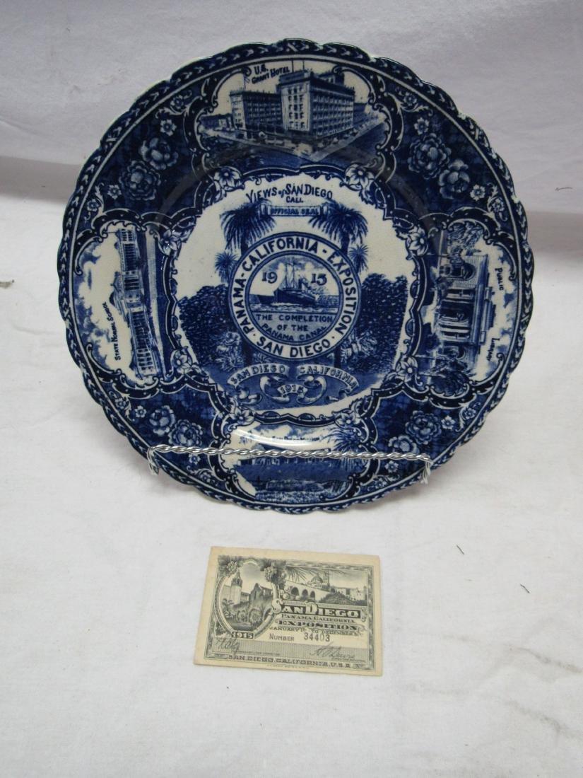 1915 British Anchor Flo-Blue Panama Exposition Plate