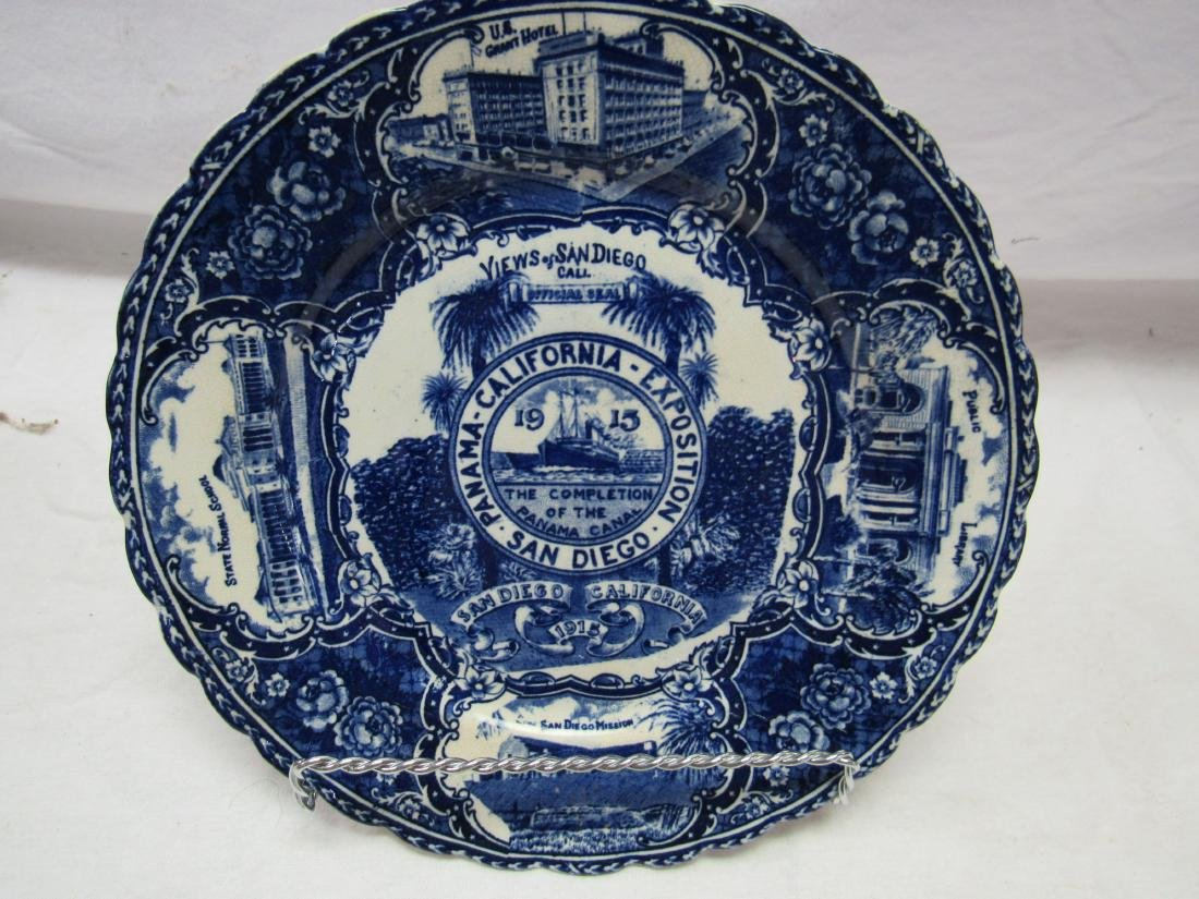 1915 British Anchor Flo-Blue Panama Exposition Plate - 2