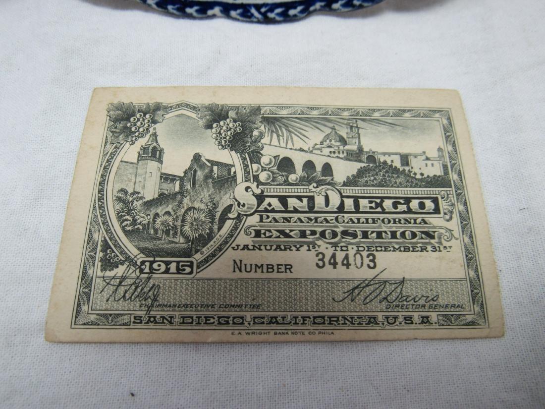 1915 British Anchor Flo-Blue Panama Exposition Plate - 3