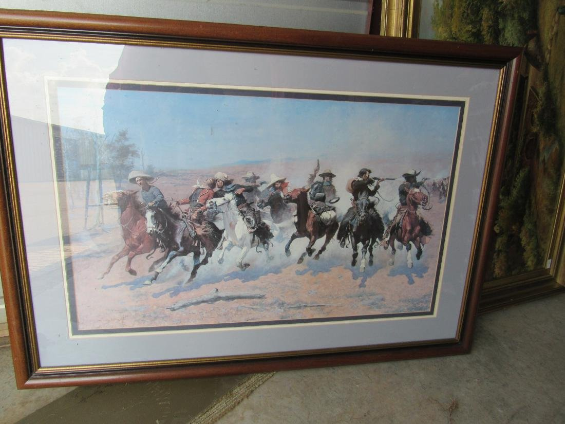 Triple Matted and Framed Frederick Remington Print