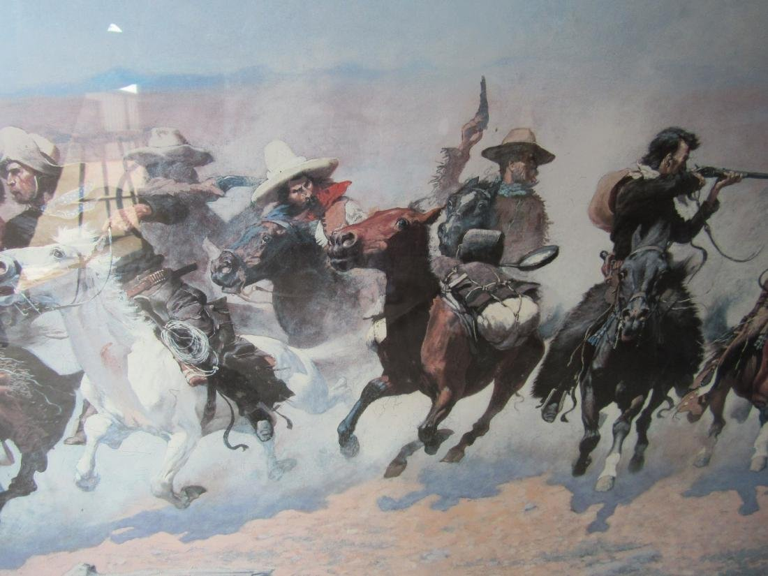 Triple Matted and Framed Frederick Remington Print - 3