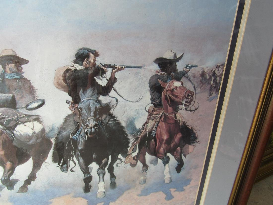 Triple Matted and Framed Frederick Remington Print - 4
