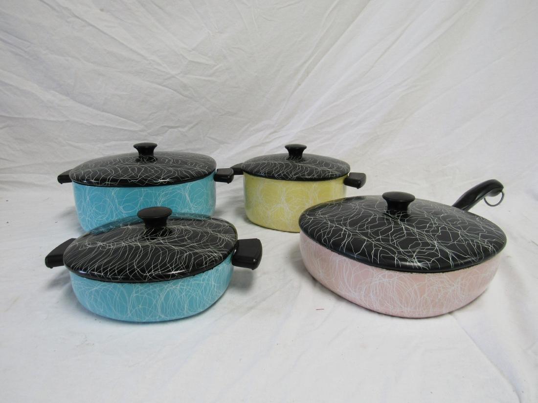 Mid Century Modern 8-Piece Enamelware Cook Set