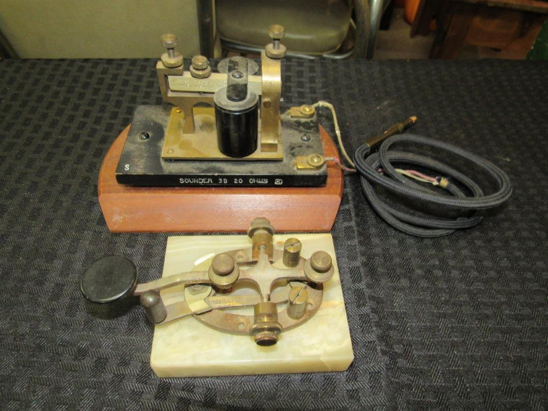 Western Electric Telegraph Key and Sounder
