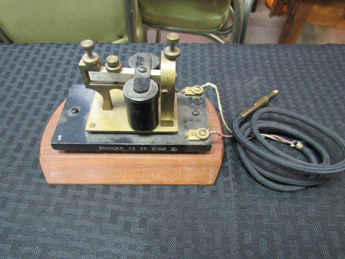 Western Electric Telegraph Key and Sounder - 5