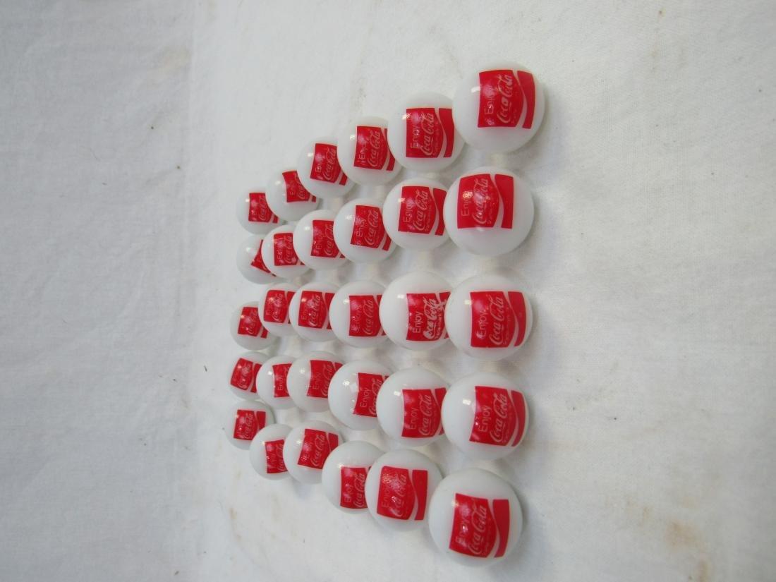 Lot of 30 Vintage Enjoy Coca-Cola Marbles