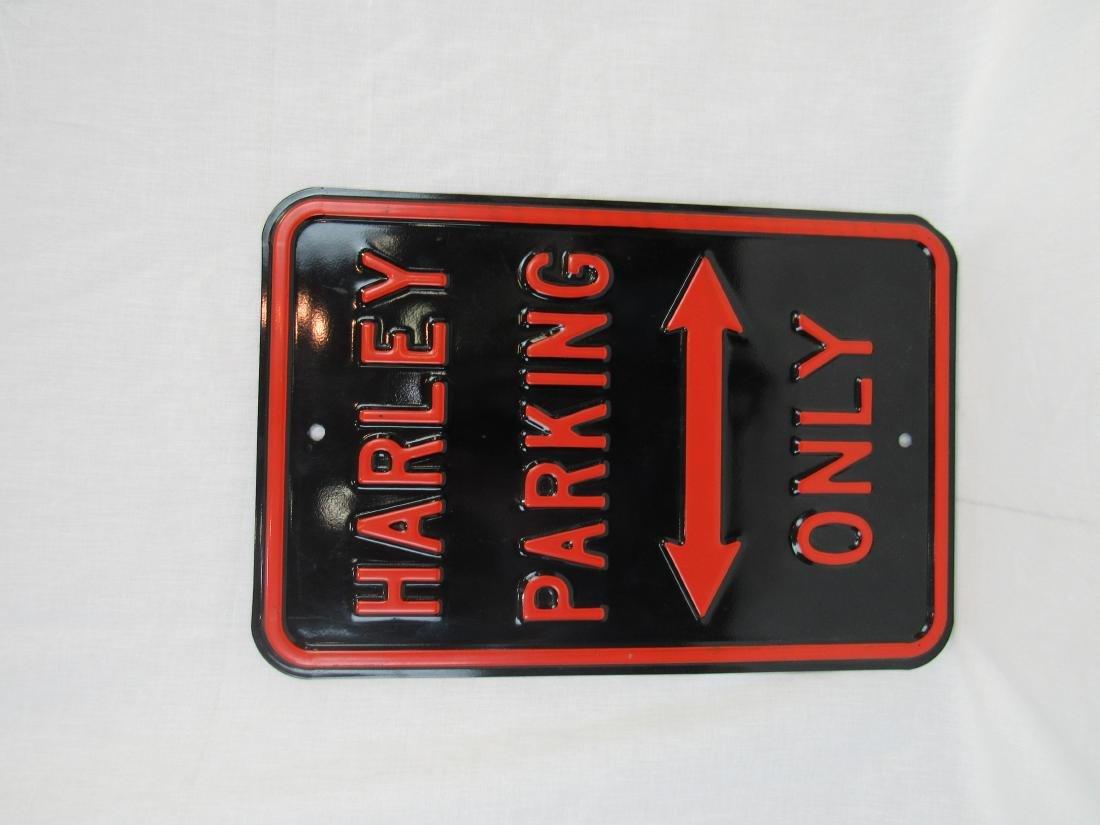 New Harley-Davidson Embossed Parking Sign