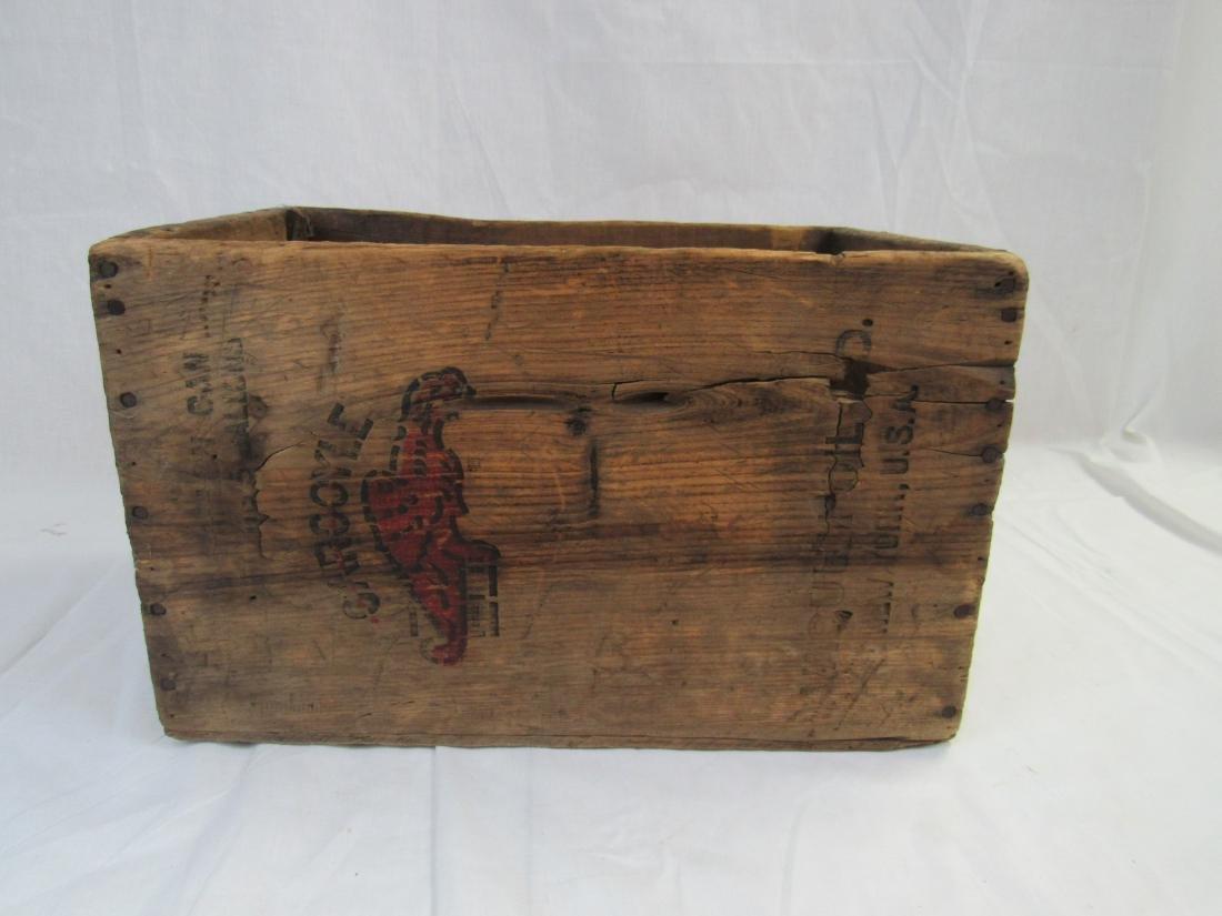 Early Gargoyle Oil Advertising Crate - 4