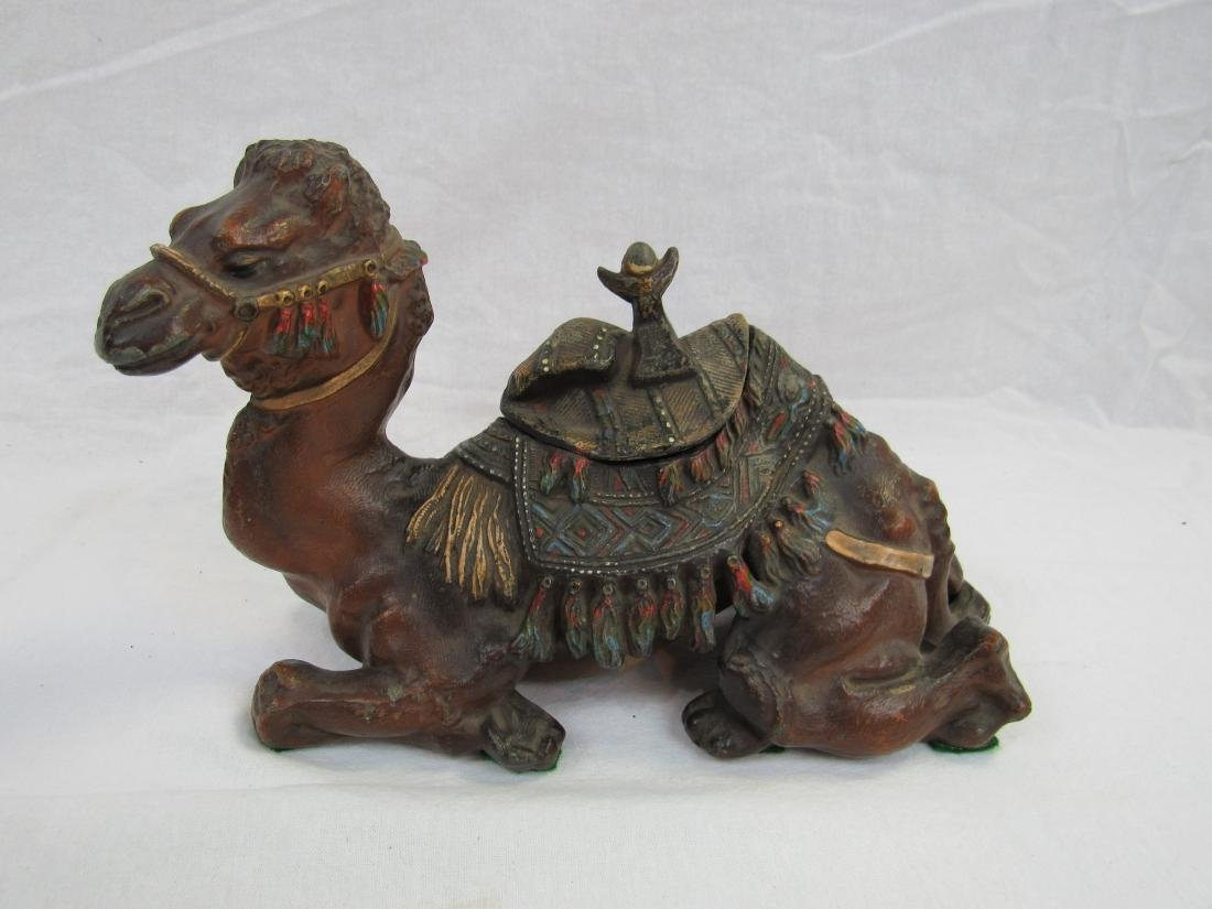 Late 19th Century Cast Metal Camel Ink Well