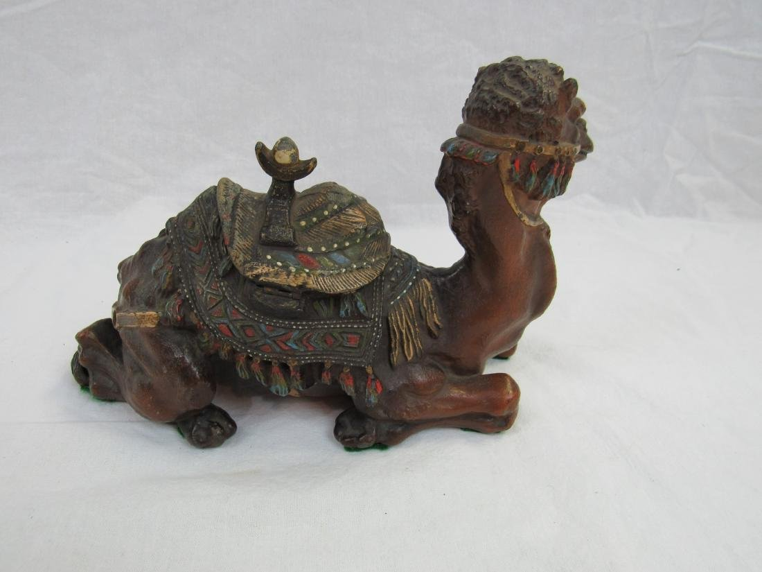 Late 19th Century Cast Metal Camel Ink Well - 4