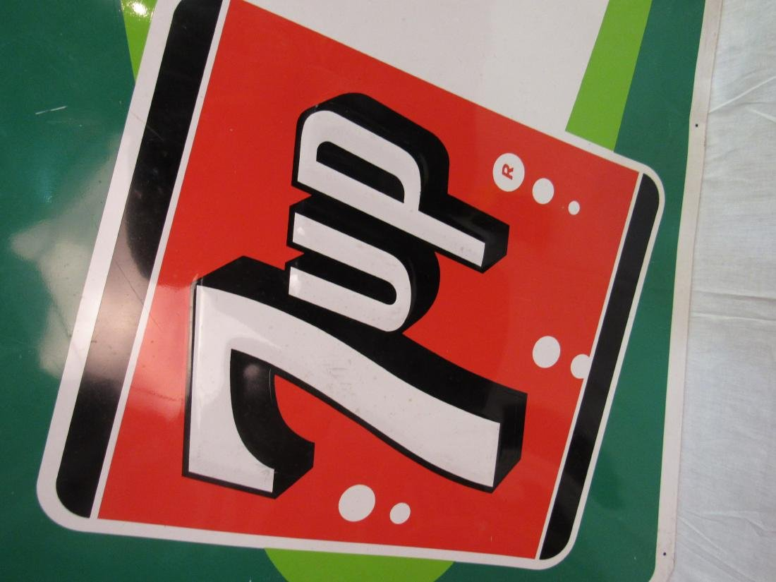 1964 Embossed 7up Tin Sign - 4