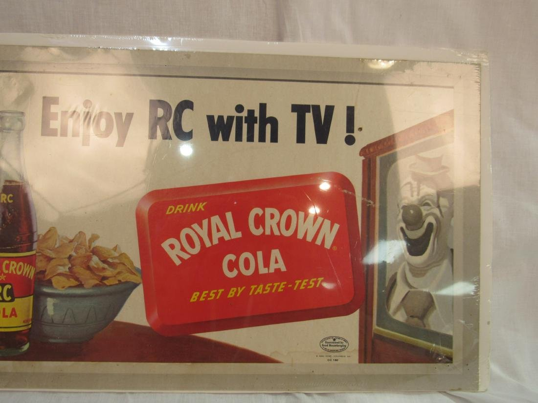 Enjoy RC with TV RC Cola Cardboard Sign - 2
