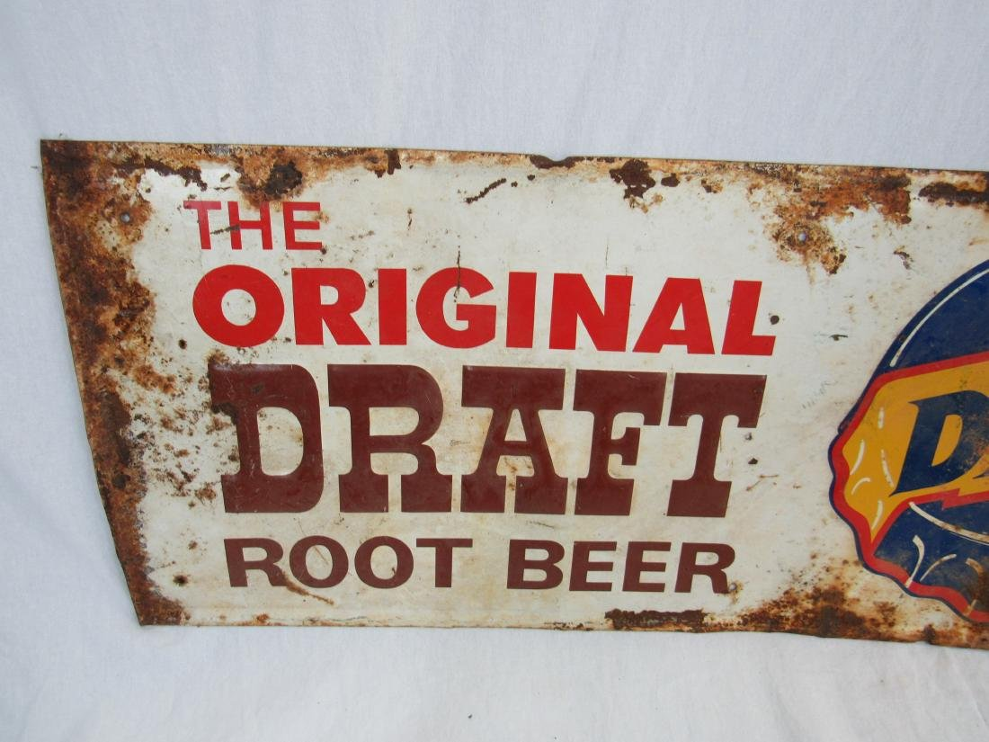 Embossed Tin Dad's Rootbeer Sign - 2