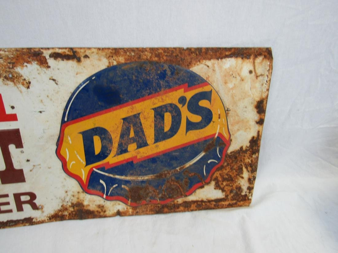 Embossed Tin Dad's Rootbeer Sign - 3