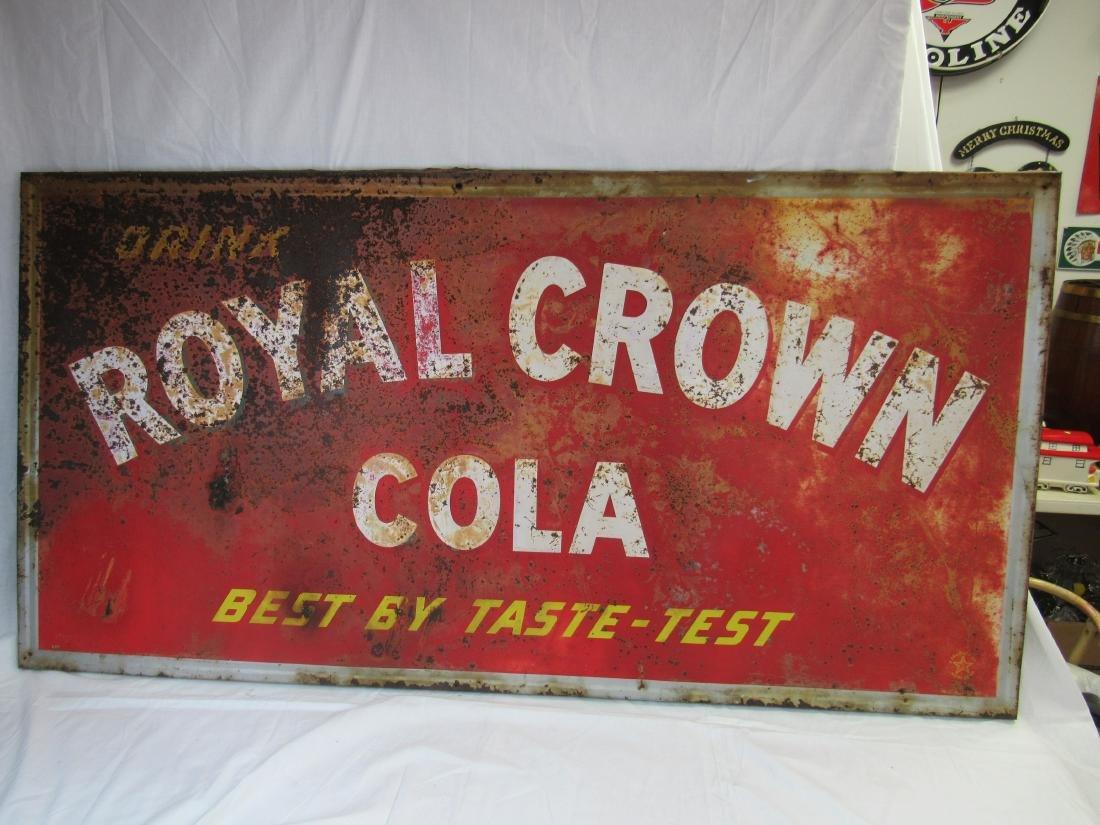 1949 Drink Royal Crown Cola Metal Sign