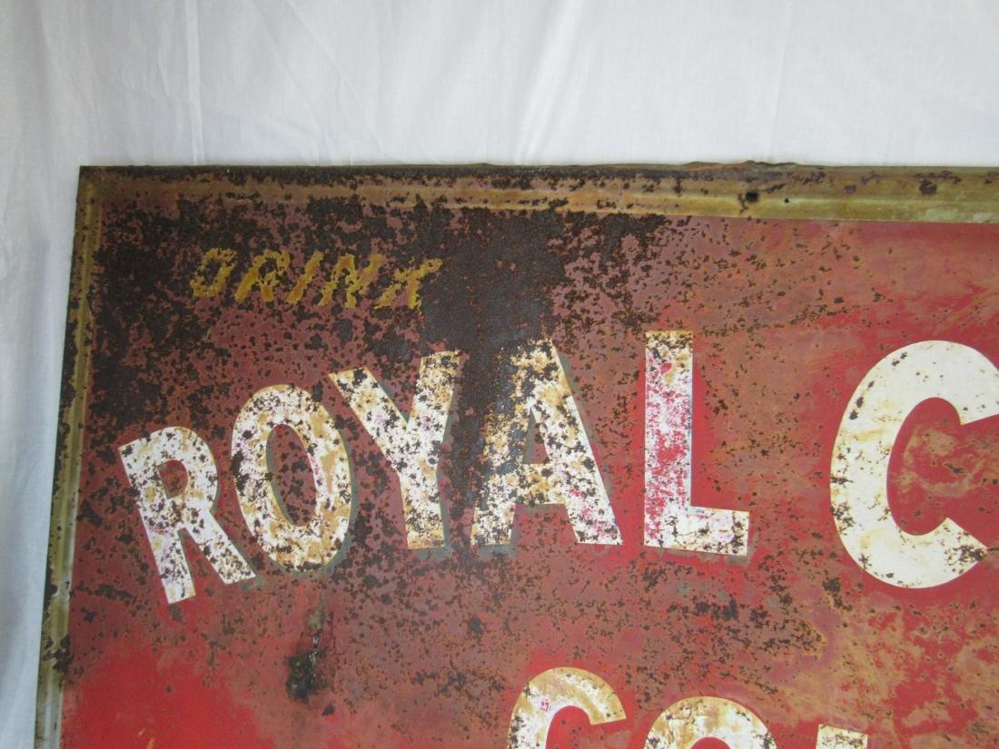 1949 Drink Royal Crown Cola Metal Sign - 3