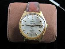 18k Gold Omega Automatic Chronometer Mens Wrist Watch