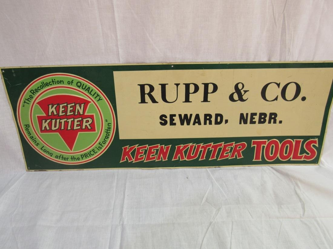 Embossed Tin Keen Kutter Sign