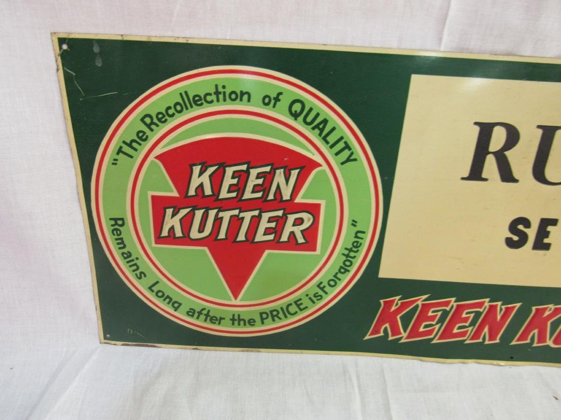 Embossed Tin Keen Kutter Sign - 2