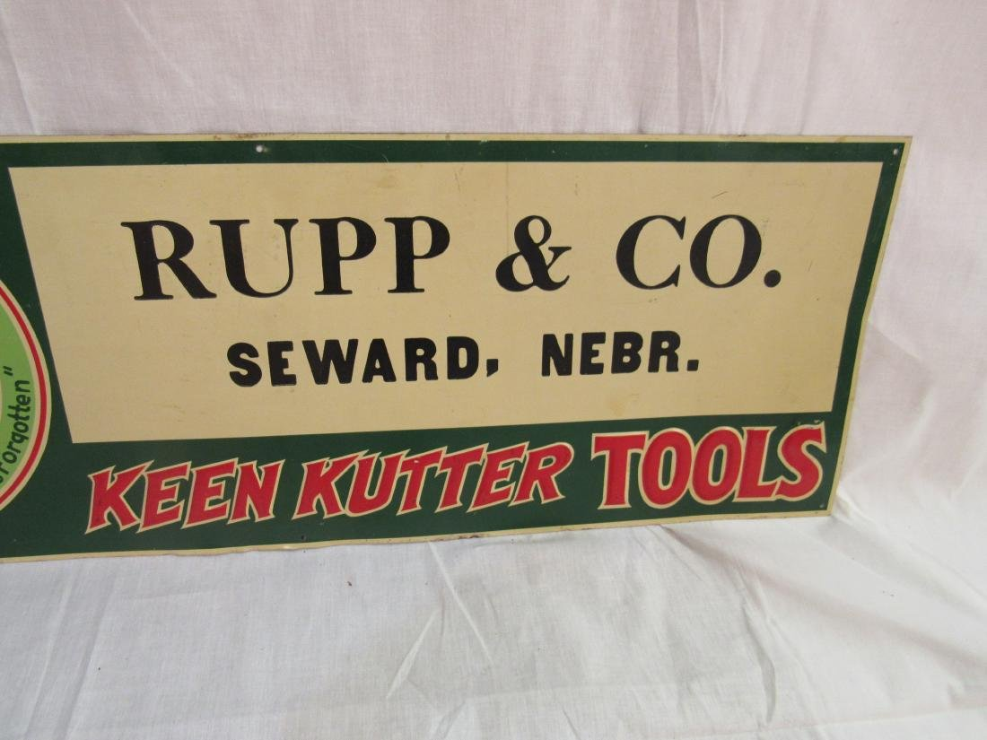 Embossed Tin Keen Kutter Sign - 3