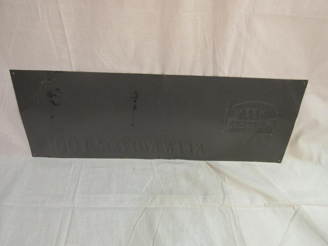 Embossed Tin Keen Kutter Sign - 4