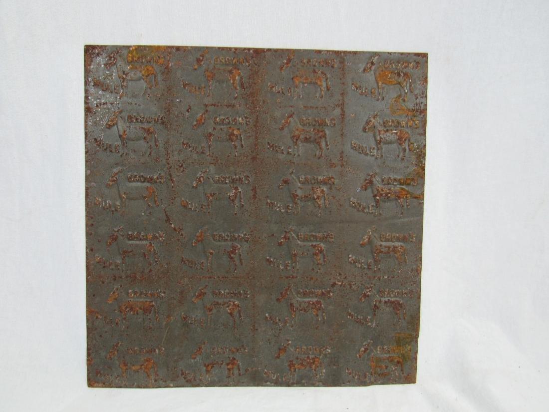 Antique Brown Mule Tobacco Tin Stamp